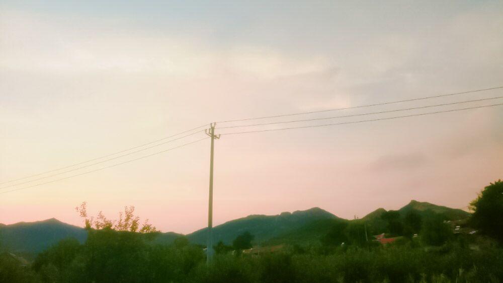 随手拍的一起看日落美图素材